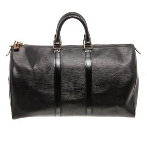 Louis Vuitton Black Epi Leather Duffle Bag Luggage